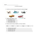 Repaso de Medios de Transporte (Transportation Assessment)