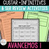 Review Activity - Repaso de SER y GUSTAR + INFINITIVOS
