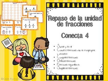 Repaso de fracciones CONECTA 4/CONNECT 4