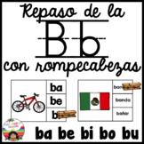 Letra B Rompecabezas ba, be, bi, bo, bu