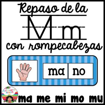 Letra M Rompecabezas ma, me, mi, mo, mu