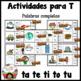 Spanish Alphabet Letter T - Rompecabezas (ta, te, ti, to, tu Review Puzzles)