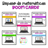 BUNDLE Repaso de matemáticas con monstruos. Distance Learn