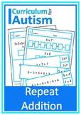 Repeat Addition Multiplication Autism