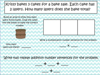 Repeat Addition and Arrays Multiplication - 2nd Grade
