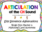 Articulation of the CH Sound With Silly Sentence Alliterations Speech Therapy