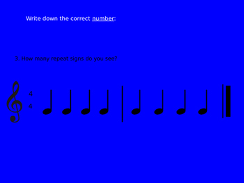Repeat Sign Assessment