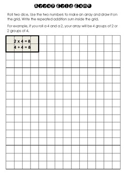 Repeated Addition Array grid game