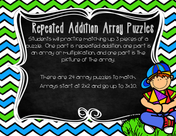 Repeated Addition Arrays Task Cards