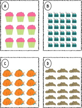 Repeated Addition Arrays Task Cards Center