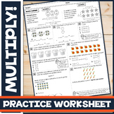 Repeated Addition & Arrays in Mulitplication: Practice Worksheet