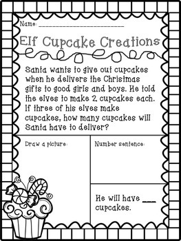 Repeated Addition Christmas Freebie