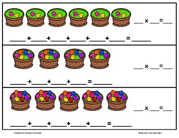 Repeated Addition & Multiplication Center (Easter Edition)