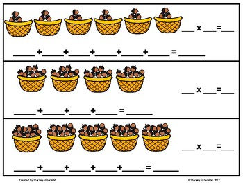 Repeated Addition & Multiplication Center (Fall Edition)