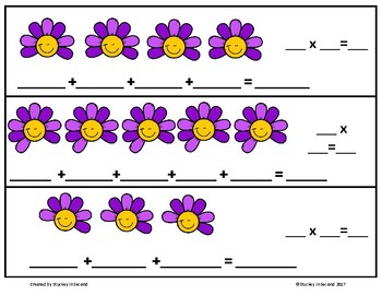 Repeated Addition & Multiplication Center (Spring Edition)
