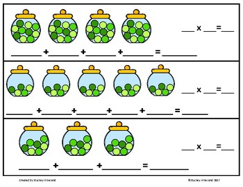 Repeated Addition & Multiplication Center (St. Patrick's Day Edition)