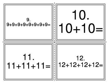 Repeated Addition Multiplication Task Cards TEKS 2.6A