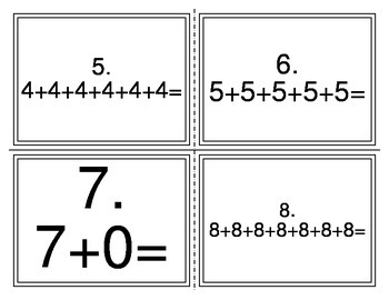 Repeated Addition Multiplication Task Cards TEKS 2.6A
