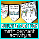 Repeated Addition Math Pennant Activity