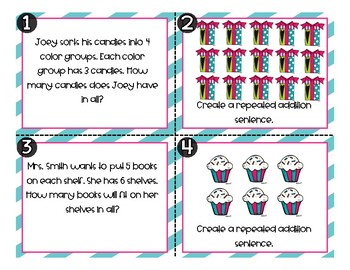 Repeated Addition Task Cards