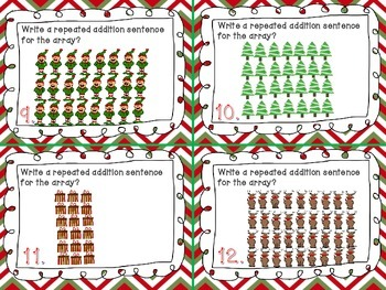 Repeated Addition Task Cards (Common Core Aligned)
