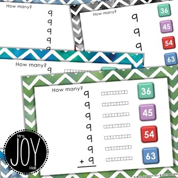 Repeated Addition Task Cards for NINES with Digital Boom Cards Option