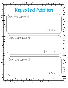 Repeated Addition {a precursor to teaching multiplication}