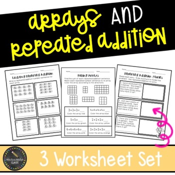 Repeated Addition Worksheets Teaching Resources Teachers Pay Teachers