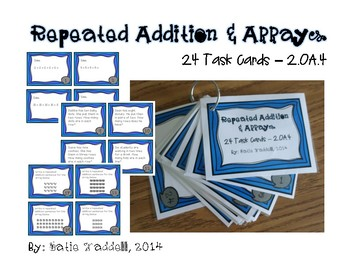 Repeated Addition and Arrays Task Cards {2.OA.4}