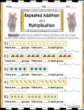 Multiplication and Repeated Addition with Picture Multiplication BUNDLE