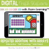 Repeated Addition with Arrays | Digital Task Cards | Boom Cards™
