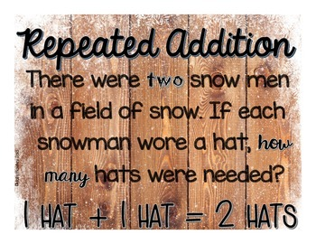 Repeated Addition with Word Problems {A Math Decodable Book}