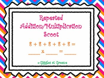 Repeated Addition/Multiplication Scoot