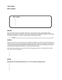 Repeated Read Aloud Planning Form