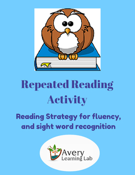 Repeated Reading Activity: Help with fluency and sight word recognition