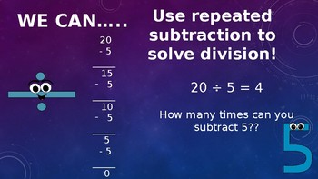 Repeated Subtraction To Divide