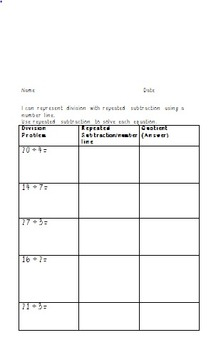 3.OA.2 Repeated Subtraction Using a Number Line