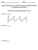 Repeated Subtraction Worksheet