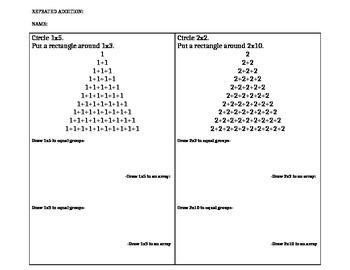 Repeated addition/Multiplication/Arrays