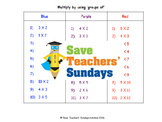 Repeated groups multiplication lesson plans, worksheets and more
