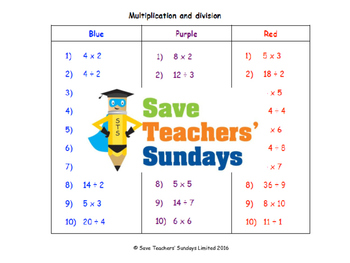 Multiplication and division lesson plans, worksheets and more