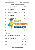 Repeated Subtraction Worksheets (3 levels of difficulty)