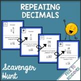 Repeating Decimals Activity - Scavenger Hunt