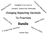 Repeating Fractions to Decimals Bundle