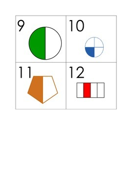 Repeating Pattern Fractions Calendar Markers