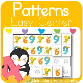 Repeating Patterns: Animals with Numbers