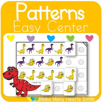 Repeating Patterns: Colorful Dinosaurs