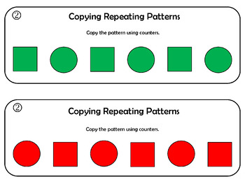 Repeating Patterns - Copy, Continue, Create