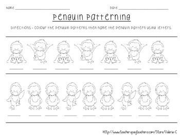 Repeating Patterns Penguin Patterning