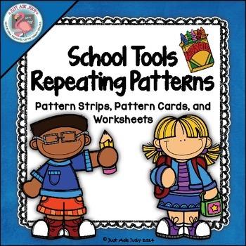 Patterns: School Tools Theme